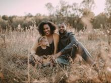 Tiffany M. Griffin with her husband and daughter
