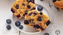 IMAGE: Recipe: Sweet potato blueberry yogurt muffins