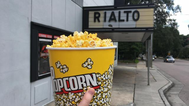Popcorn pickup from the Rialto