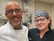 Holly Hopkins and Chef Mario Huante, owner of Chef Mario's