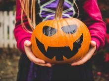 Halloween, pumpkin, trick-or-treater