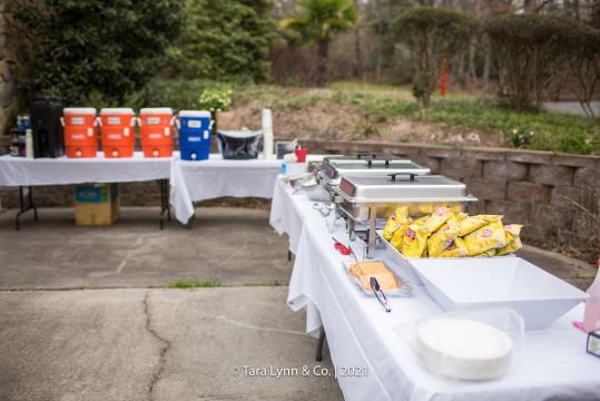 Dinner setup for NC Zoo Snorin 'Safari