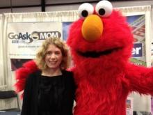 Elmo with Go Ask Mom editor Sarah Lindenfeld Hall