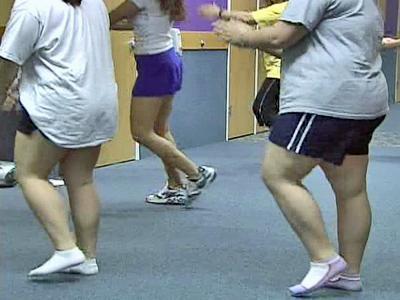 Children exercise as part of Wake Forest University Baptist Medical Center's Families in Training Program.