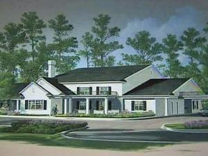 An artist's rendering of Duke Health System's planned hospice care facility that will serve nine counties.