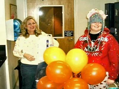 Camille Watson, 15, celebrates Christmas 2006 at Duke Children's Hospital, following a bone marrow transplant for pre-leukemia.