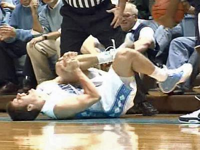 A University of North Carolina at Chapel Hill basketball players suffers an injury to his ACL, or anterior cruciate ligament.