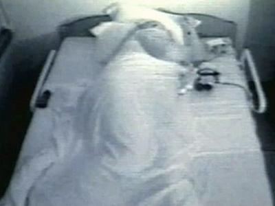 A chronic insomnia sufferer is treated at the St. Louis University of Medicine's sleep center.