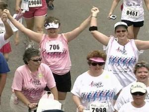 Up to 75 percent of the net income from each Susan G. Komen race stays in the community.