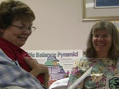 Breast cancer survivors get to know each other.