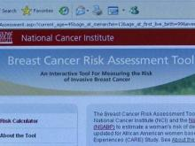 Online tool calculates breast cancer risk