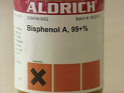 Bisphenol A is a chemical found in many plastic products.