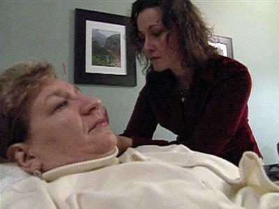 Maria Bruno gets acupuncture to help with her chronic headaches.