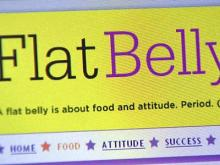 A screenshot of the Flat Belly Diet Web site.