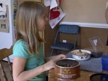 Children take part in peanut allergy study