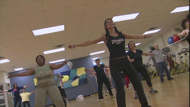 Yasmin Taylor teaches a Zumba class