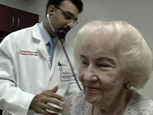 Betty Moore and her primary physician Dr. Gulshan Sharma