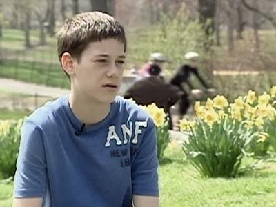 Kyle Hausler, 15, suffers from dystonia.