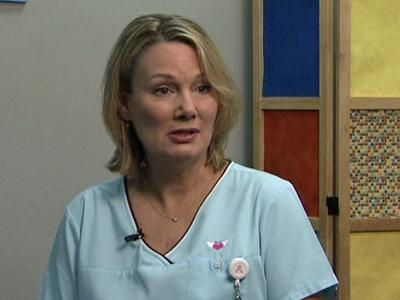 Leslie Middleton helps cancer patients cope with treatment.