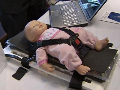 Bioengineering students display projects designed to help patients.
