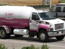 Truck goes pink to raise breast cancer awareness