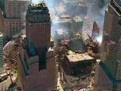 Images of the Twin Towers in New York on Sept. 11, 2001.