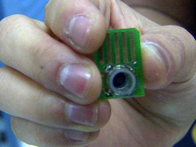 This is a prototype of a device that will be able to detect the genetic signature.
