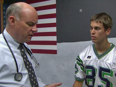 Raleigh Neurologist Dr. John Wooten was at the game last year when Leesville High School's Alan Evans was injured on the field against Millbrook.