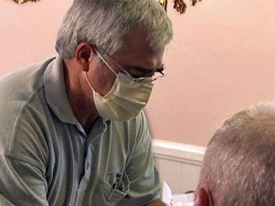 Nurse Larry Stevens is part of the Duke University Health System HomeCare and Hospice program.