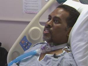 Carl Foster was diagnosed with the H1N1 flu and spent more than eight weeks in the intensive care unit.