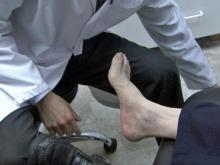 Diabetes patients need to monitor their feet