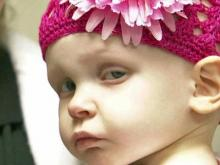 Delilah Jones, 1, suffers from neuroblastoma.