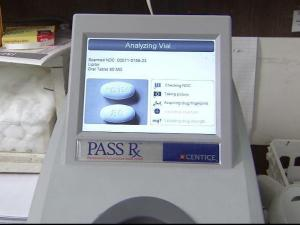 The PASS Rx, a device invented and marketed by Centice in Morrisville, is available in about 15 pharmacies nationwide.