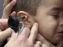 Child ear infections can get antibiotics sometimes