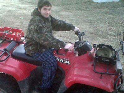 Joe Godfrey, 15, of Sanford, was injured while riding an ATV.