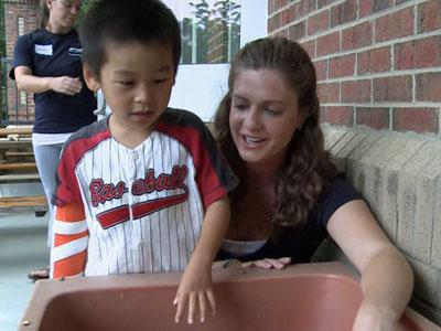 """UNC Hospitals occupational therapist Holly Holland started the """"Helping Kids with Hemiplegia Camp"""" at Scroggs Elementary School in Chapel Hill six years ago to provide experimental therapy for children."""