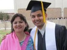 Geeta and Pratik Chherti after his graduation from Central Michigan University. (Image from Pratikfund website)