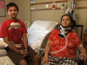 Geeta Chhetri and her son, Pratik Chhetri, were injured in a bus crash on Interstate 95 in Virginia. Geeta Chhetri is undergoing spinal cord surgery at UNC Hospitals.