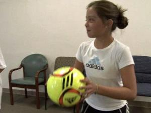 Girls who play soccer also run a serious risk of knee injury, but exercises developed by a Wake County physical therapist can help them play hard and safe.