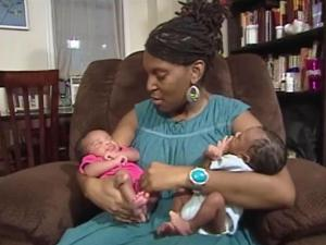 New mom Dinea Eddings kept taking DHA vitamins after the birth of her twins. Since she is breastfeeding, she hopes that more DHA will keep her babies healthy as they grow.