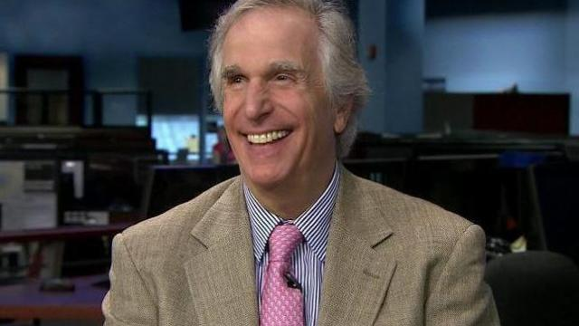 Henry Winkler was in the Triangle Tuesday, May 22, 2012, raising awareness for a condition called Upper Limb Spasticity.