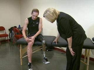 Woody Roseland is working with engineering students at the University of Denver's Human Dynamics Lab to design a permanent prosthesis.