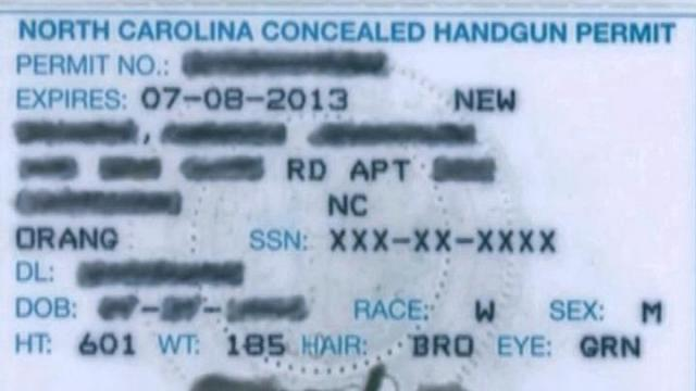 A North Carolina permit to carry a concealed handgun requires proof that the carrier is physically and mentally fit.
