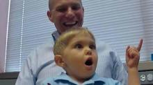 IMAGES: New implant helps child with rare hearing disorder