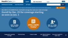 NEW Healthcare.gov website