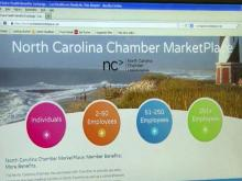 NC Chamber private insurance exchange website