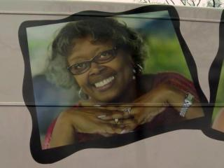 A breast cancer survivor is among those pictured on the Rex mobile mammography coach.