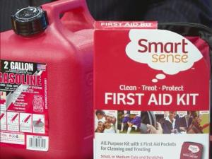 Carry gas and a first aid kit in case of emergency on the road.