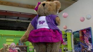 Amputated teddy bears made to match owners with disabilities
