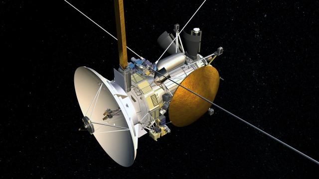 Launched in 1997 with the European Space Agency's (ESA) Huygens probe, Cassini is the first spacecraft to orbit Saturn. Among Cassini's objectives is the study of Saturn's rings, Titan's atmosphere, and the behavior of Saturn's magnetosphere.